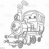 Locomotive Anthropomorphic Locomotora Tendenza Illustrazioni Ukraine sketch template