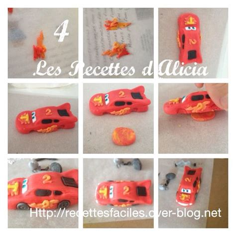 tuto cars disney flash mc voiture pate a sucre cake design tutoriel pate a sucre