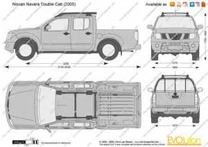 the blueprints vector drawing nissan navara cab