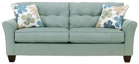 kylee lagoon buttonless tufted  cushion sofa  signature design  ashley gardiners
