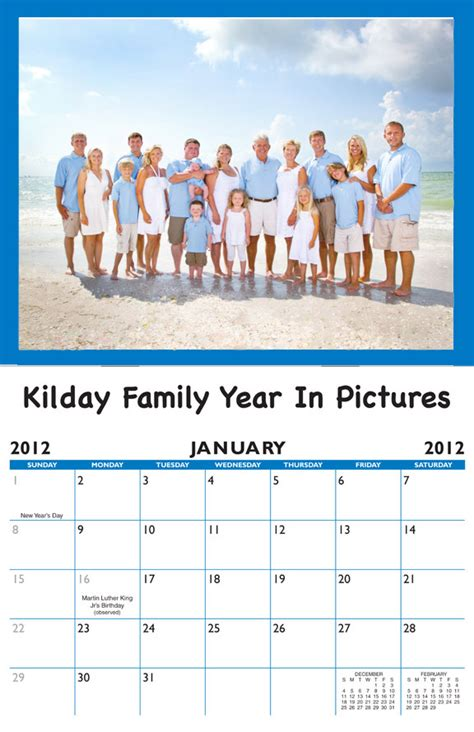 family birthday calendar personalized calendar company