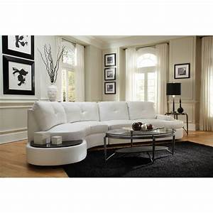 furniture cool white sectional couch design with round With sectional sofa built in tables