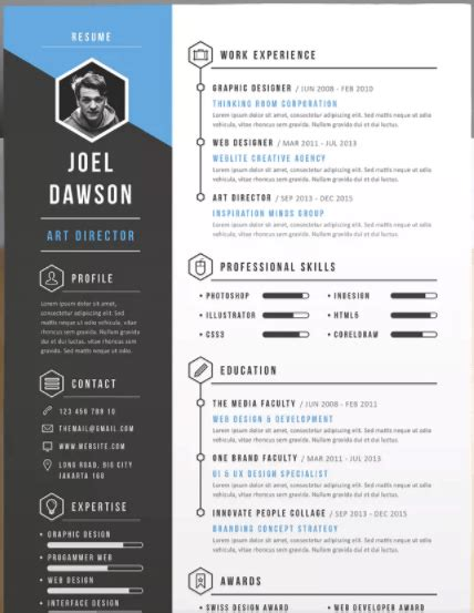 how to make a visual resume in powerpoint present better