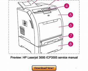 Hp Color Laserjet 3000 3600 3800 Cp3505 Service Repair Manual Downl