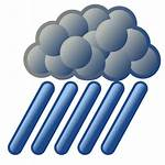 Svg Rain Weather Heavy Clipart Nuvola Commons