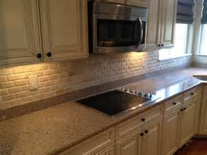 travertine backsplash - Houzz Kitchen Tile Backsplash