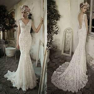white ivory open back lace wedding dress custom size 2 4 6 With wedding dresses lace open back