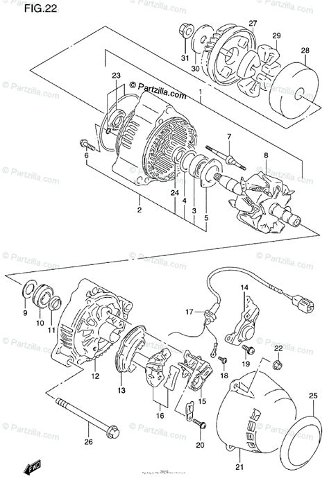 suzuki motorcycle 1997 oem parts diagram for alternator partzilla com