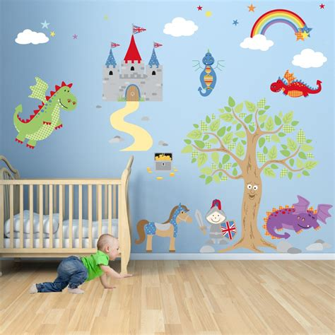 stickers de chambre enchanted royal knights and nursery wall stickers