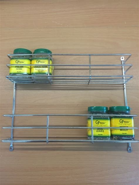 Two Tier Spice Rack by 2 Tier Spice Rack Chrome 0048 Organise At The