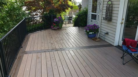 timbertech tigerwood deck  mocha border deck masters