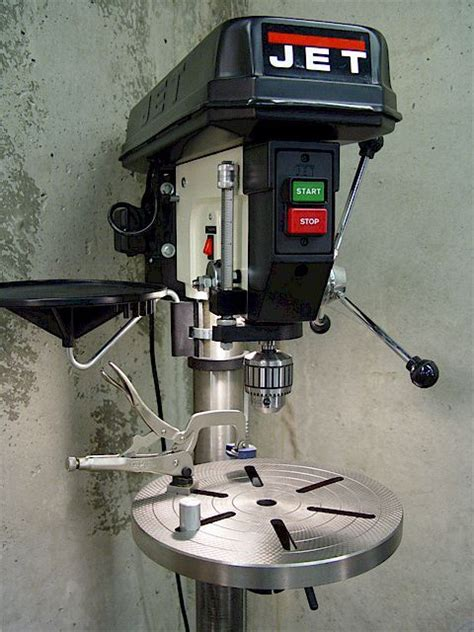 drill press table clamp   modified visegrip clamp