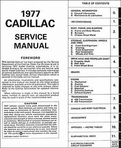 1977 Cadillac Repair Shop Manual Original