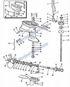 Johnson Gearcase Group Parts For 1963 40hp Rd