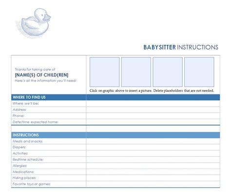 babysitter checklist babysitting checklist