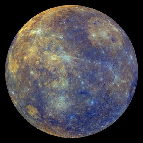 what color is mercury mercury enhanced colors dataset science on a sphere