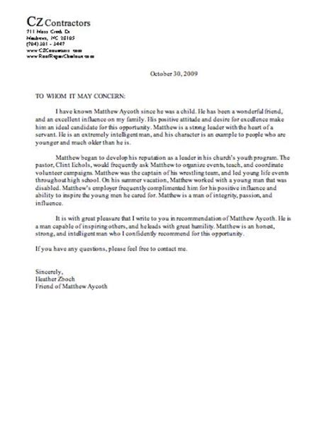 best 25 letter of recommendation format ideas on