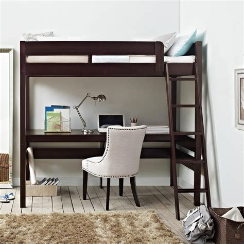 bunk loft with desk dorel living dorel living harlan loft bed with desk