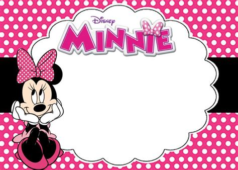 Minnie Mouse Template Invitation by Free Printable Minnie Mouse Birthday Invitation Card