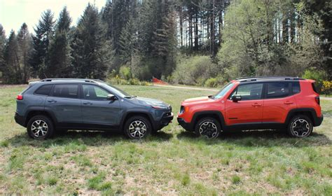 jeep renegade  jeep cherokee    size
