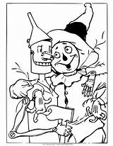 Wizard Oz Coloring Scarecrow Tin Witch Wicked Drawing Colouring Printable Different Dorothy Being Monkeys Land Princess Situations Buddy Trouble Pair sketch template