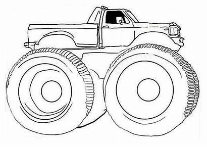 Monster Coloring Truck Pages Gunslinger Blaze Simple