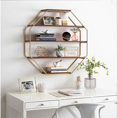 A wide variety of decorative wall shelves options are available to you, such as design style, feature, and type. Kate & Laurel™ Lintz Octagonal Floating Wall Shelves in ...