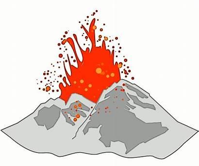 Volcano Clipart Cartoon Hawaiian Earth Clip Lava