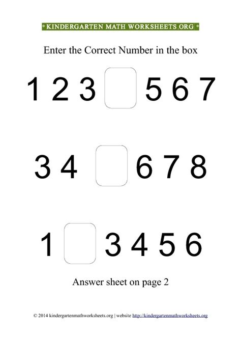 5 best images of printable math number recognition