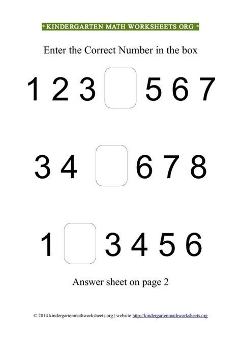 5 Best Images Of Printable Math Number Recognition Worksheets  Kindergarten Worksheets Numbers