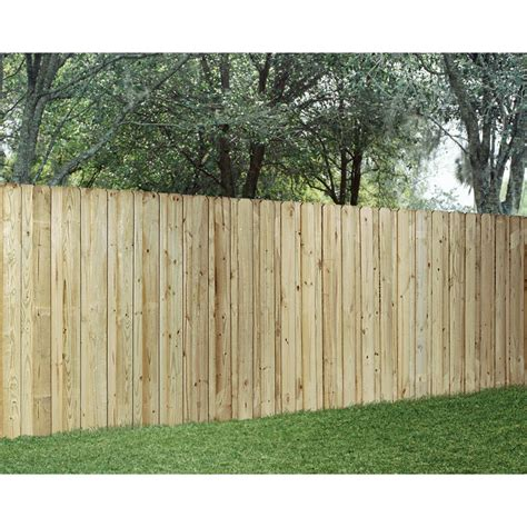 shop wood fencing pressure treated board on board 6 x 8 panel acq at lowes