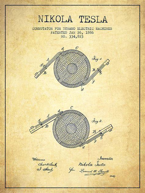 nikola tesla patent drawing   vintage drawing