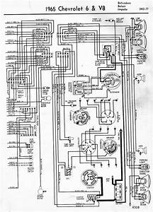 Wiring Diagrams Of 1965 Chevrolet 6 And V8 Biscayne