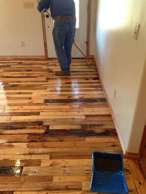 the floor project diy pallet wood flooring diy craft projects