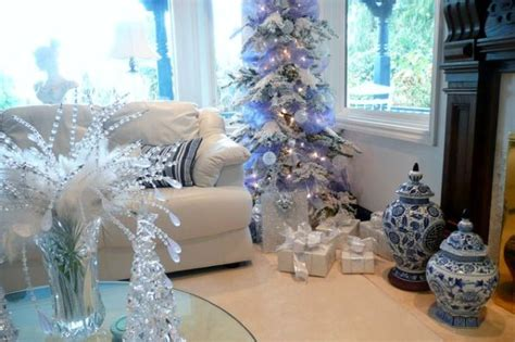 decorating  blue white christmas ideas inspiration