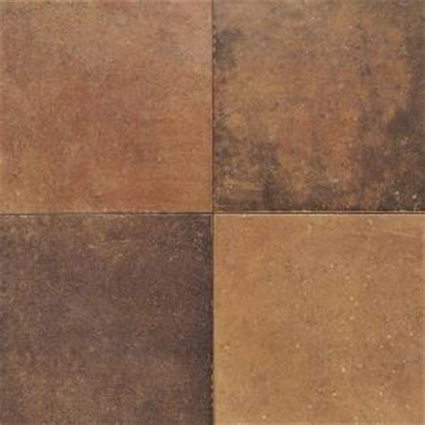 floor tile ta daltile terra antica rosso 12 in x 12 in porcelain floor and wall tile 15 sq ft case