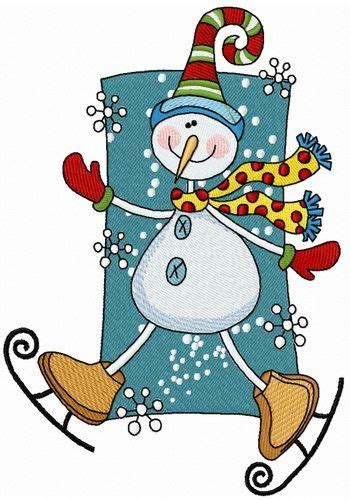 snowman skating machine embroidery design machine