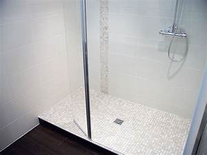 carrelage salle de bains et douches a l39italienne With salle de bain mosaique blanche