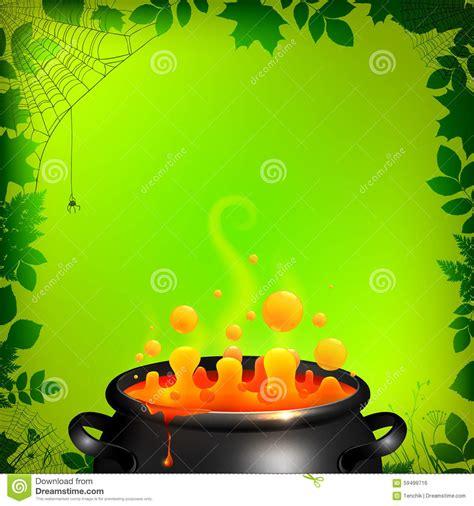 orange vector potion  black cauldron  green stock