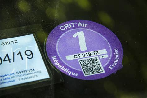 crit air 1 la pastille crit air enfin officiellement obligatoire le 1er juillet place gre net