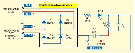 Telephone Call Recorder Electronic Circuit Diagrams