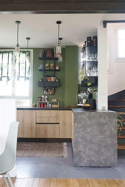 cuisine peinte en vert avant après la rénovation stupéfiante d 39 une meulière