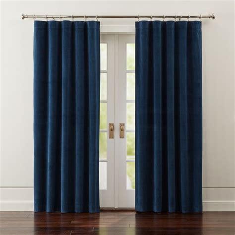 windsor blue velvet curtains crate  barrel