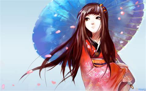 japanese anime girl wallpaper  heart  anime