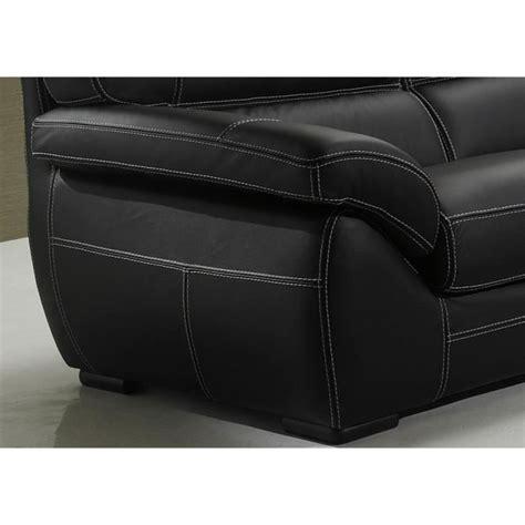 canapé 2 places cuir noir canapé cuir siena 2 et ou 3 places cuir noir achat