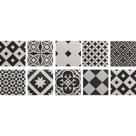 stickers pour faience cuisine carrelage intérieur gatsby artens en grès noir et blanc