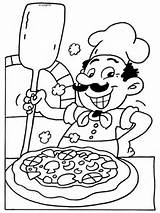 Pizza Coloring Pages Kleurplaat Kleurplaten Italian Nl Preschool Maker Restaurant Eten Pizzaria Voeding Van Dibujos Para Chef Colorear Dibujo Thema sketch template