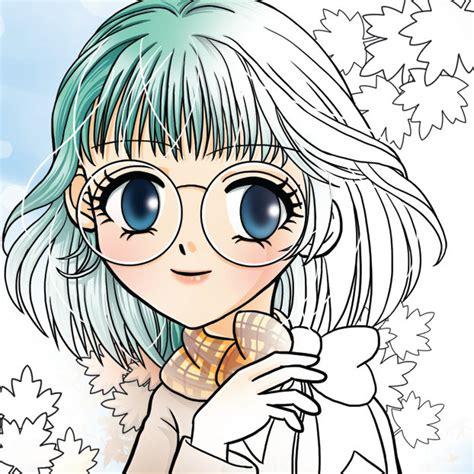 cartoon girls  glasses   clip art