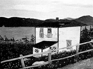 Old House In Black And White Painting by Barbara Griffin