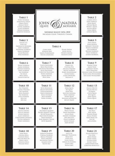 wedding seating chart template   sample